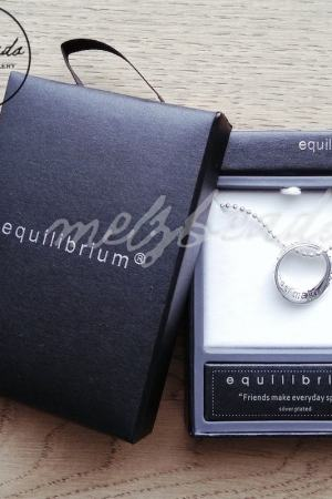 Equilibrium Inspirational Silver Ring Necklace