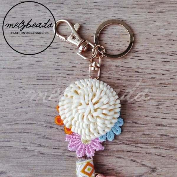 Bohemian Flower Tassel Key Ring