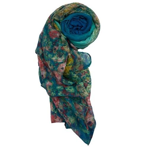 blue floral-print-scarf