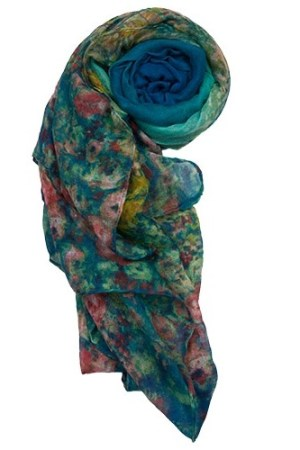 blue floral-print-scarf