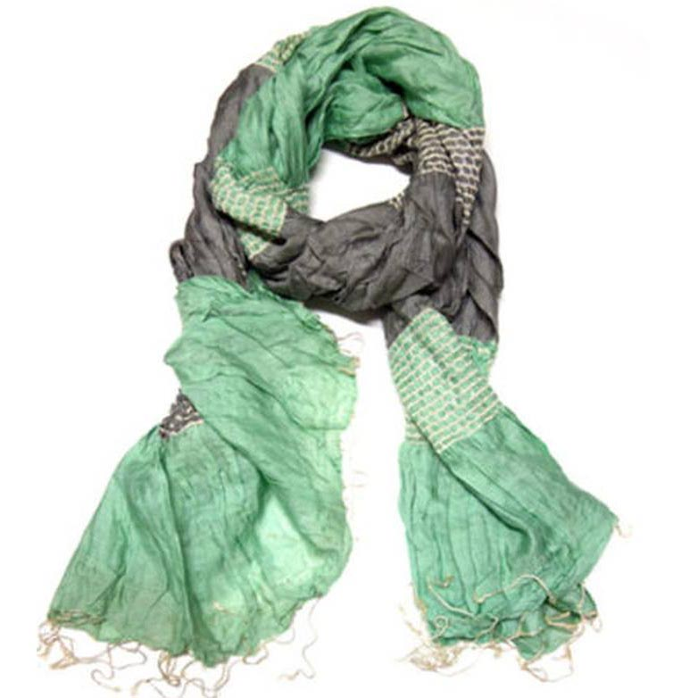 green grey scarf