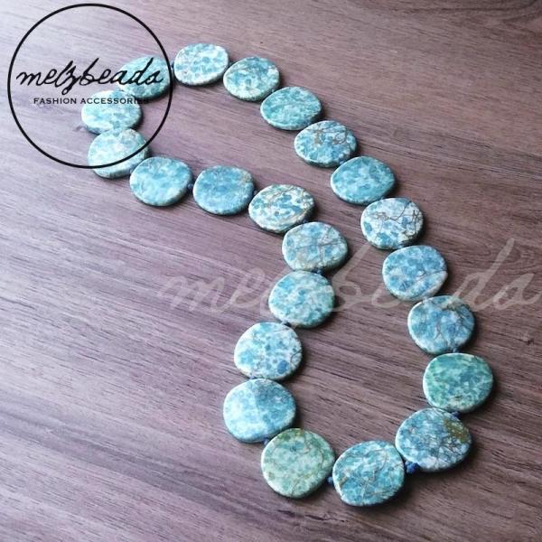 Turquoise Acrylic Beaded Necklace