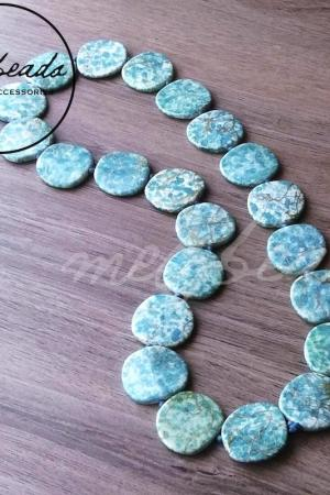 Turquoise Acrylic Beaded Necklace