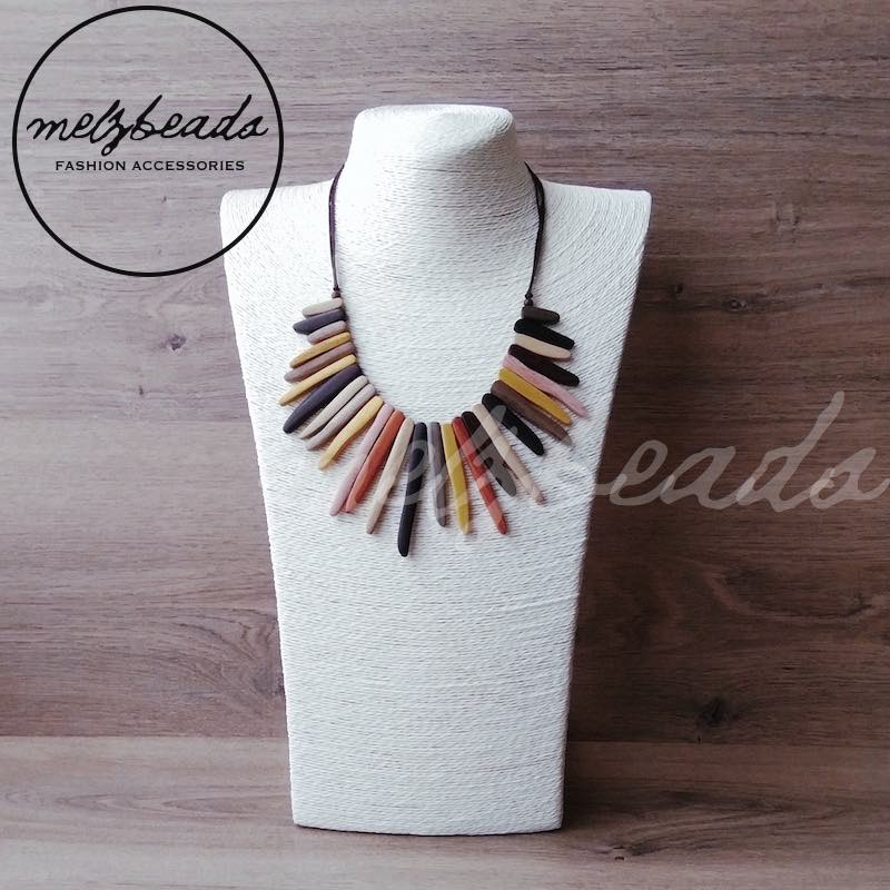 Natural Wooden Tribal Necklace