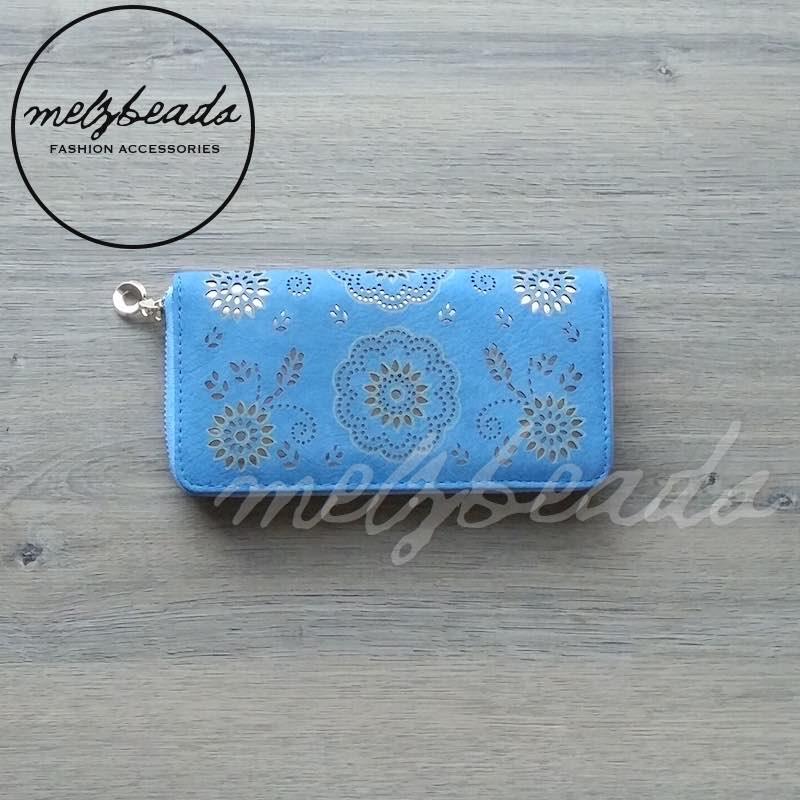 blue wallet purse