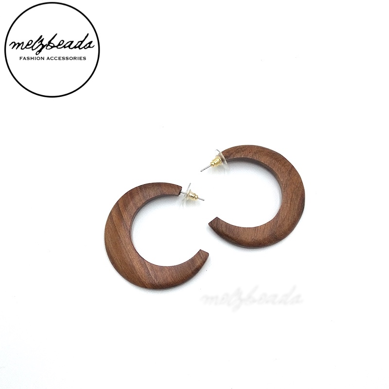 Geometric Vintage Style Wooden Earrings