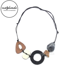 Earth Tone Multi-Texture Necklace