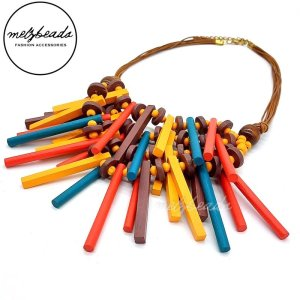 Colourful Tribal Firework Wooden Necklace