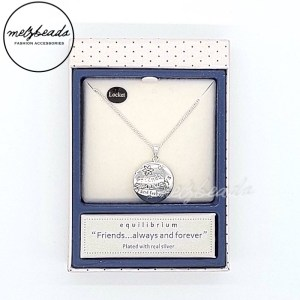 Equilibrium Friends Forever Locket Necklace in Silver