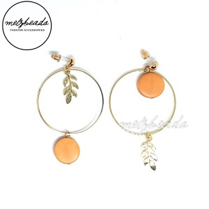 Asymmetrical Leaf Hoop Earrings