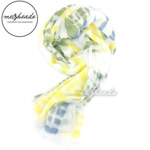 White Yellow Green Blue Scarf