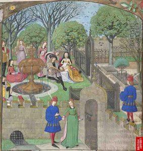 Le-Roman-de-la-rose-Il-Giardino-dei-Piaceri-XV-secolo-Harley-MS-4425