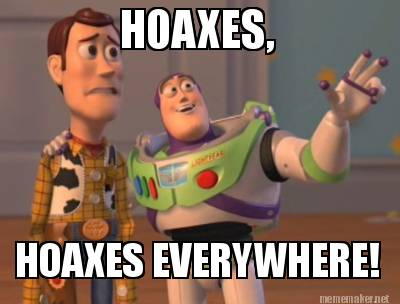 Image result for all of the hoaxes meme