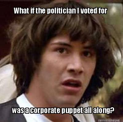Image result for politician puppets of corporations