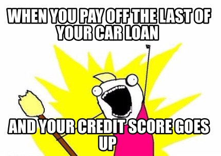 Pay off credit meme