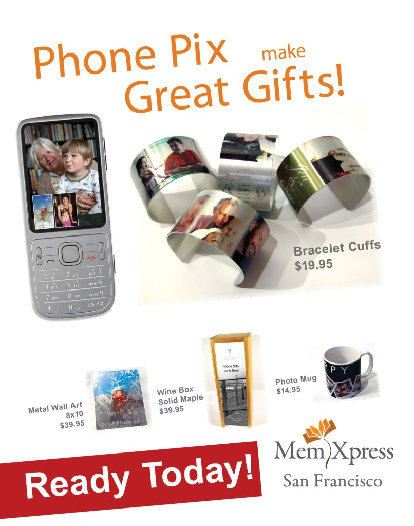 We can turn any cell phone picture into a gift you'll be proud to give.