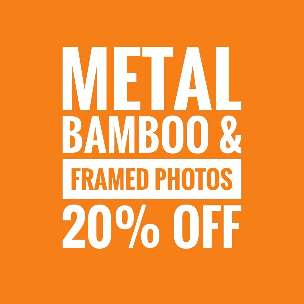 Save 20% on Gift Frame Photos, Bamboo and Metal Prints