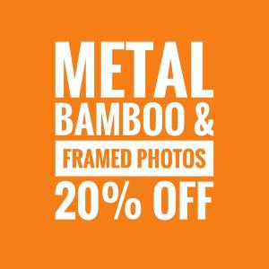 Save 20% on Gift Frame Photos, Bamboo and Metal Prints