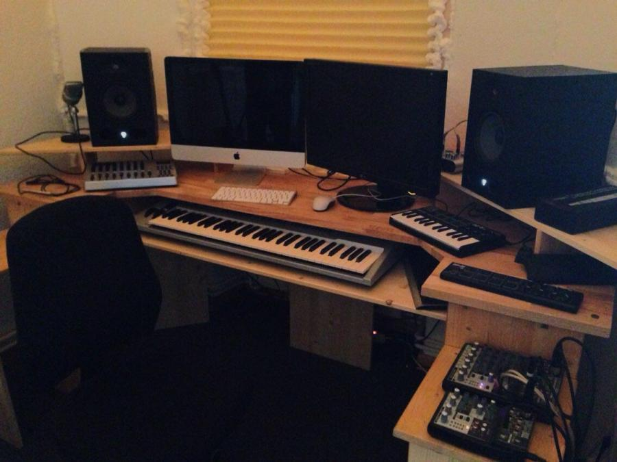 The completed recording studio