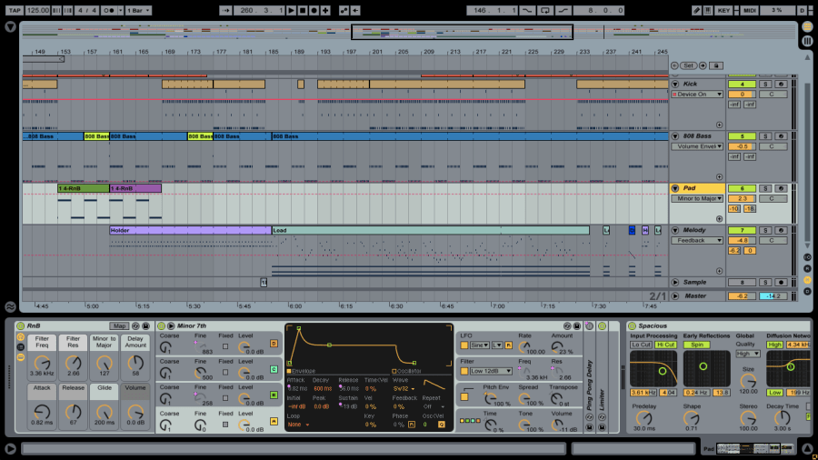 Screenshot of Dream Jungle Ableton arrangement