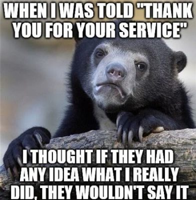 thanks for your service meme