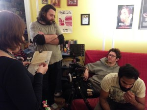Director Sean Mannion discussing the next shot with DP Peter Westervelt. January 2015
