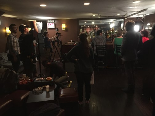Setting up for another shot at The People's Lounge March 2015