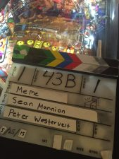 Slate on a pinball machine at The Creek & The Cave May 25th 2015