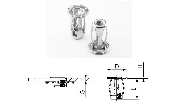 Steel Hollow Wall Screw Anchors/Fixings Short Grip