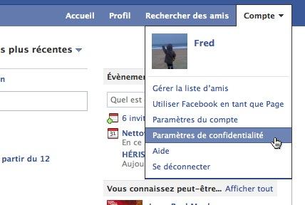 parametres confidentialite facebook