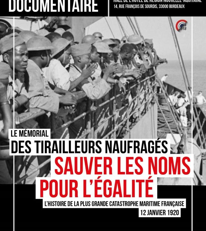 LE MÉMORIAL DES TIRAILLEURS NAUFRAGES- une exposition pour «sauver les noms», 12 janvier 2018