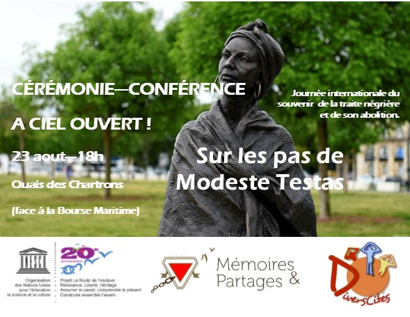 UNESCO – «Sur les pas de Modeste Testas» Cérémonie-Conférence publique, 23 août