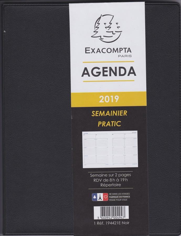 Exacompta 194421 Agenda Semainier Pratic Avec Couverture