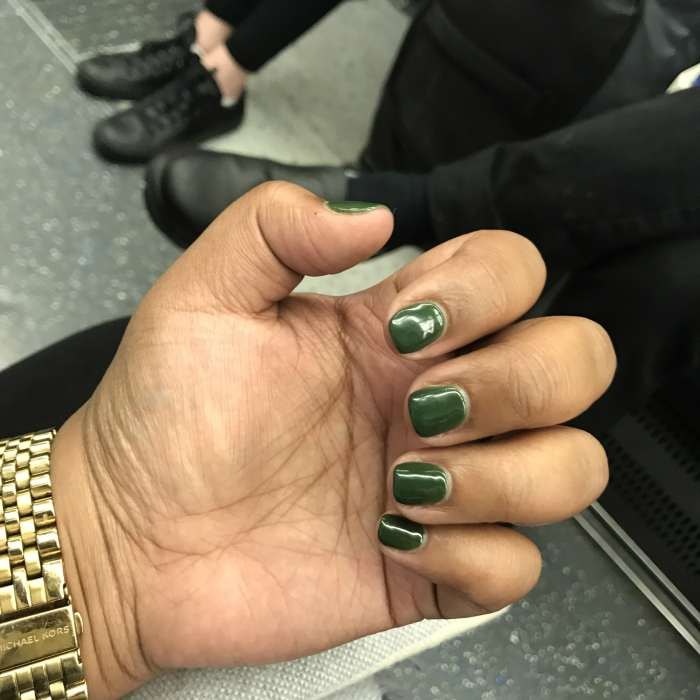Dollar green nails for America.