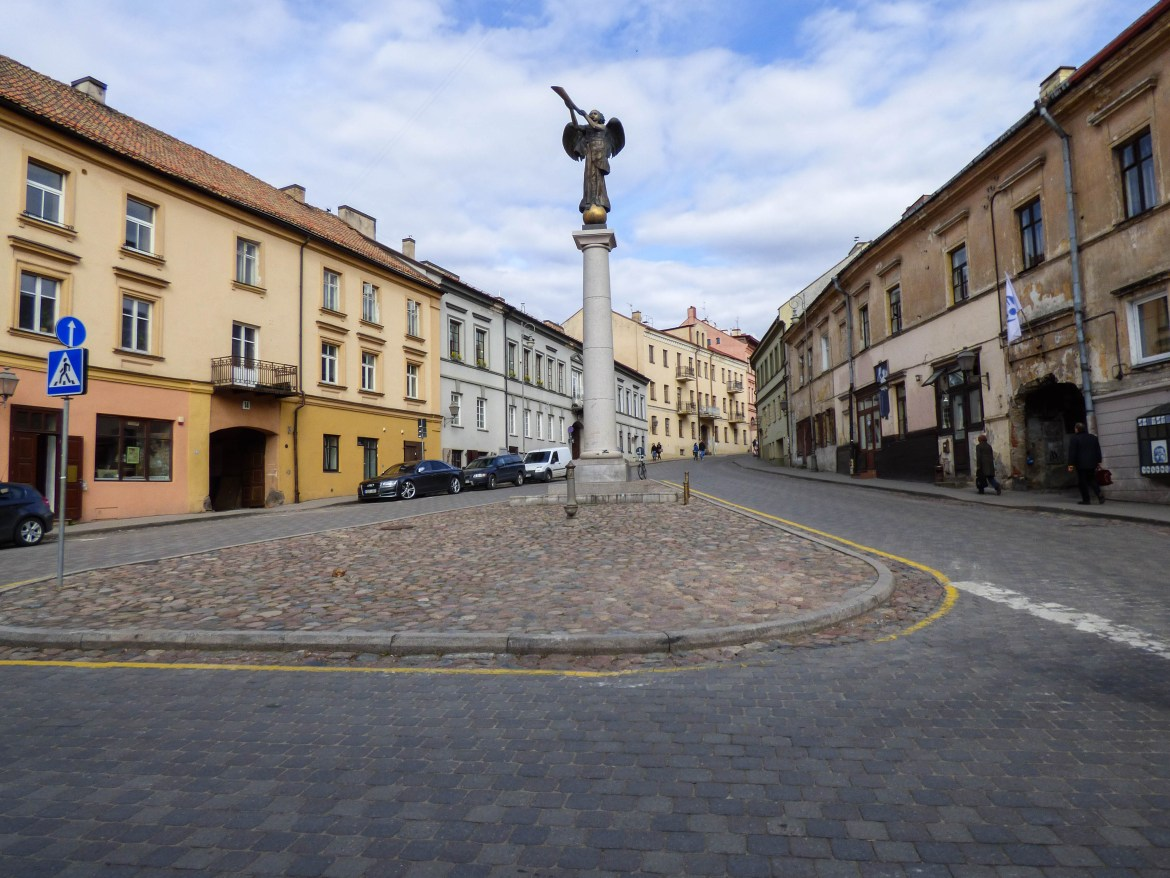 A square in Uzupis