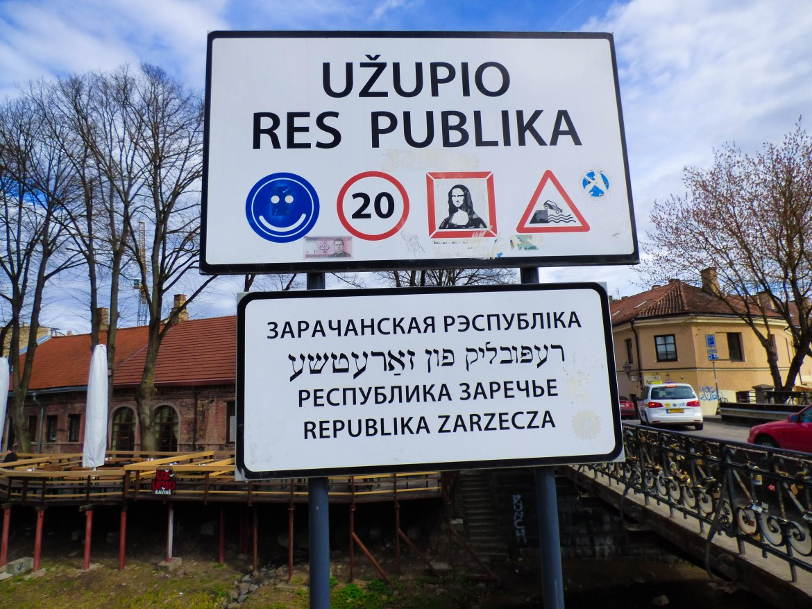 Sign in front of Uzupis