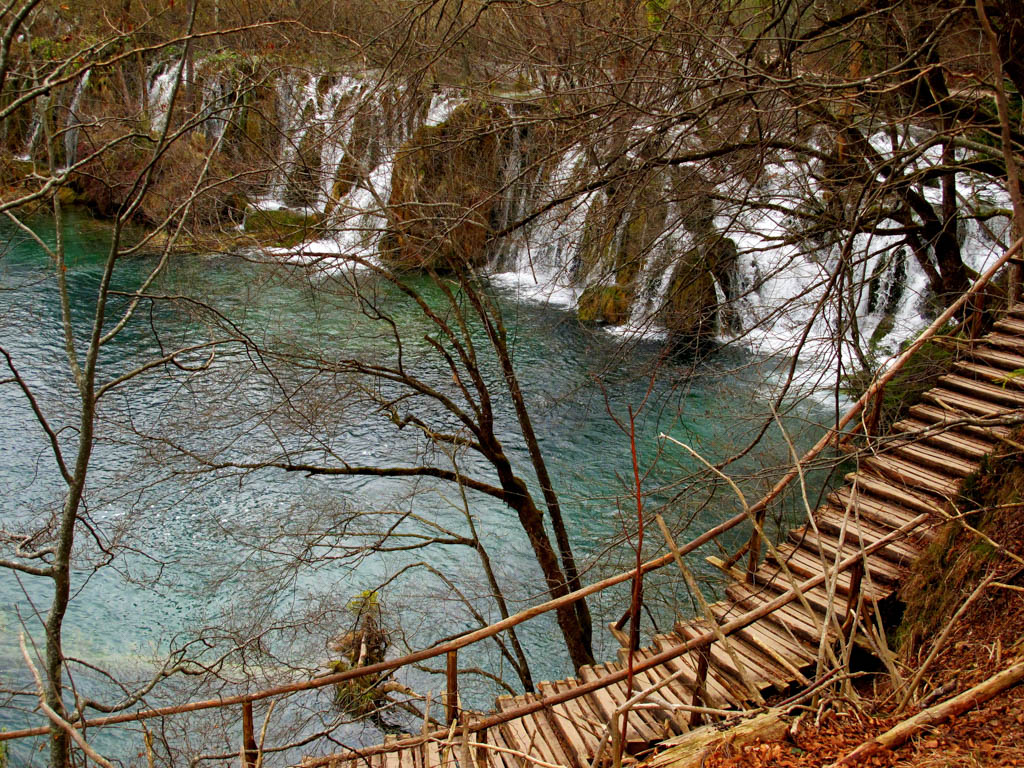 Stair path in Plitvice National Park