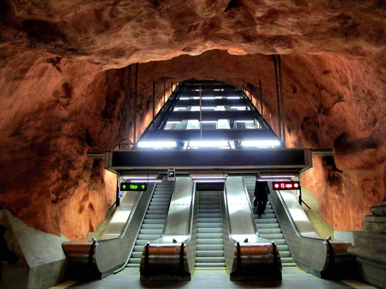 Radhuset Station in Stockholm