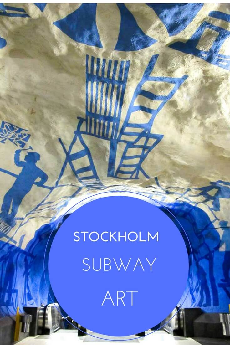 Stockholm's subway stations are filled with interesting art!
