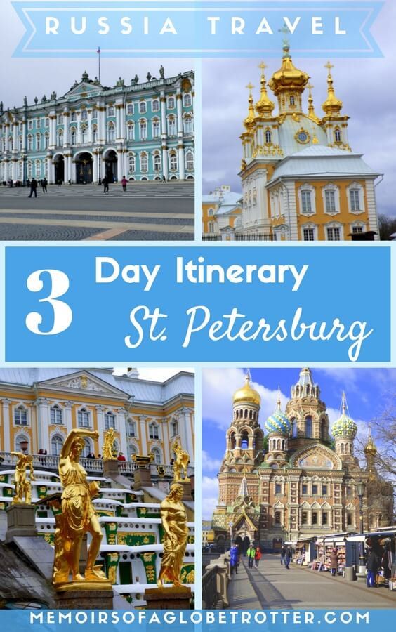 St. Petersburg, Russia has many attractions: colourful churches, palaces, and the world-famous Hermitage Museum. Discover how to spend the perfect 3 days there in this travel itinerary!