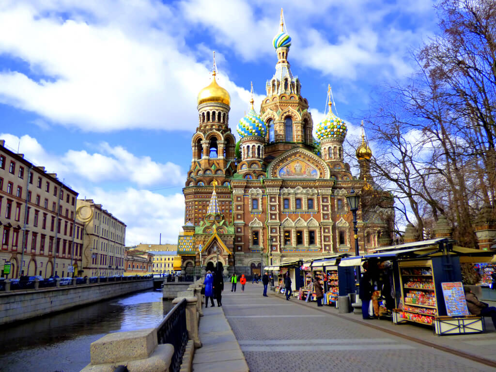 Church of Our Savior on Spilled Blood in St. Petersburg, Russia.