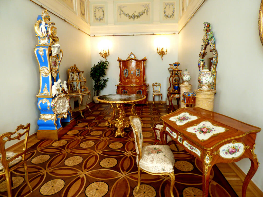 Furniture display in Hermitage Musuem