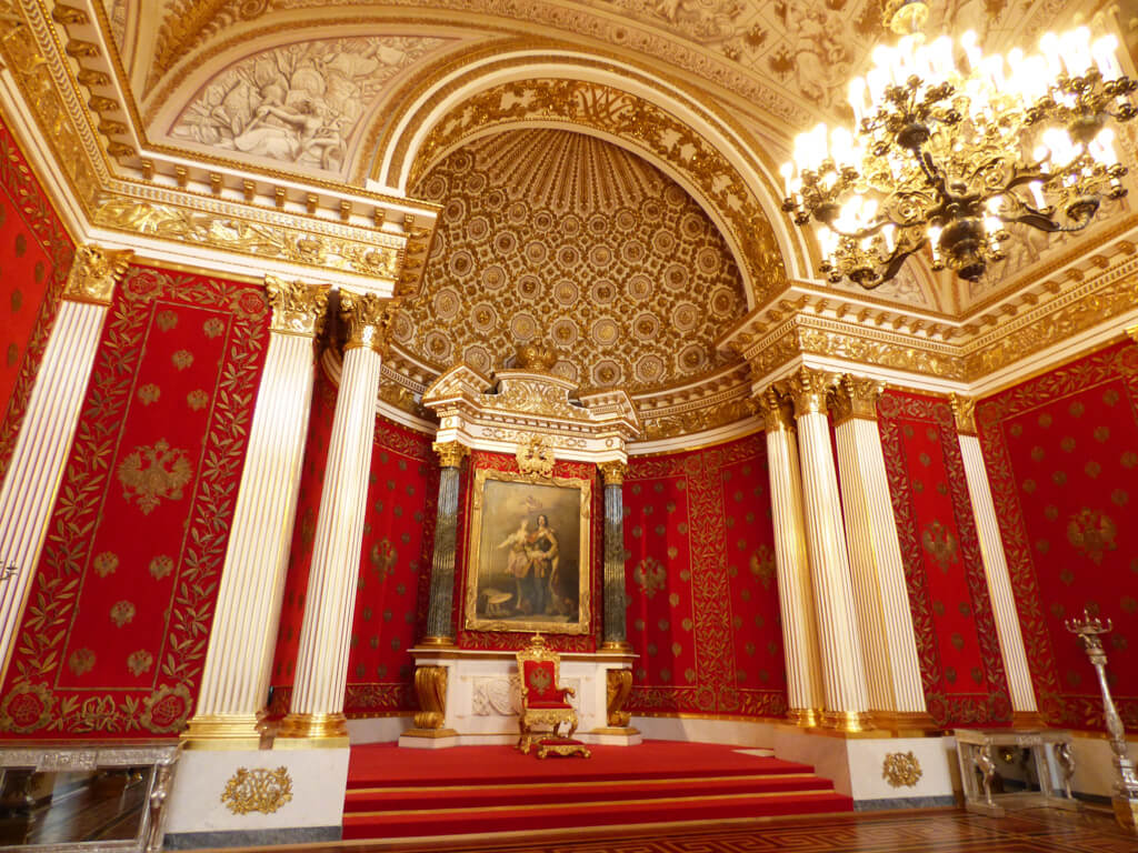 Red room in Hermitage Museum