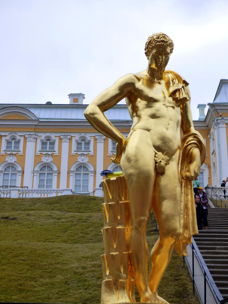 Gold Statue at Peterhof Palace