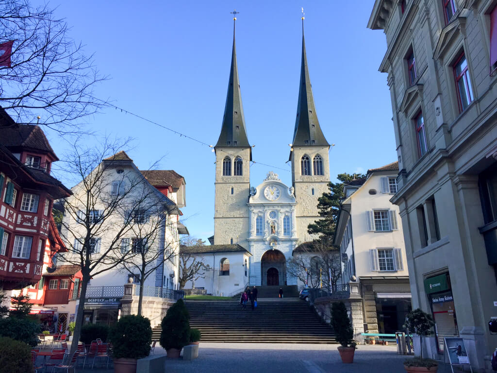 Hofkirche (Church of of St. Leodegar) in Lucerne
