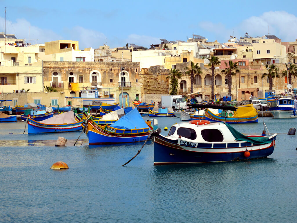 Marsaxlokk fishing village in Malta