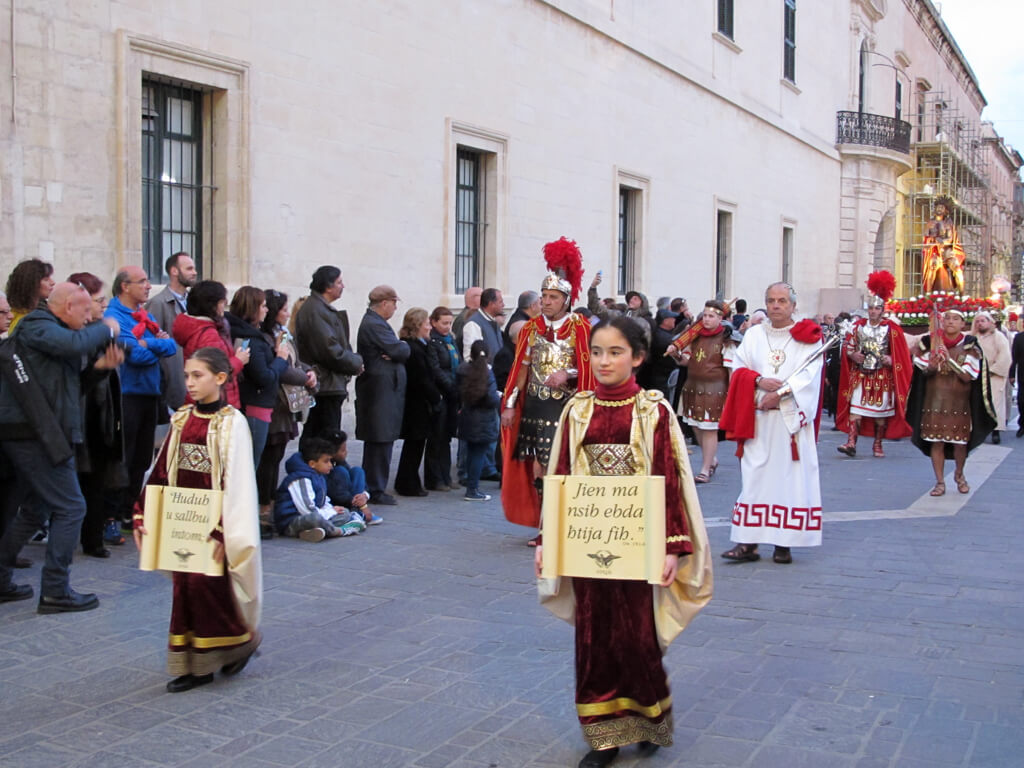 A procession in Valletta during Easter