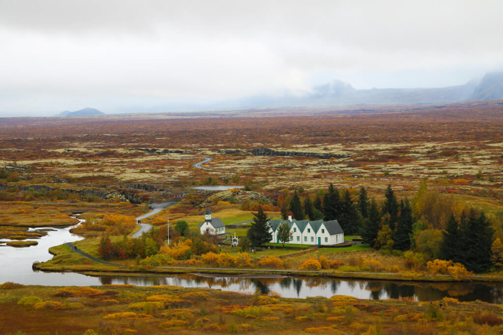 View from Thingvellir National Park