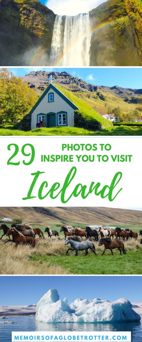 Geysers, wild horses, lava fields, and whales - Iceland has it all! Here are 29 photos to inspire you to visit this scenic country.