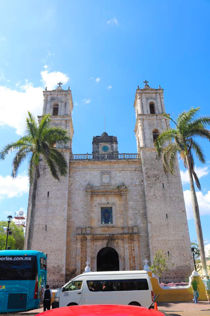 San Gervasio Cathedral in Valladolid, Mexico